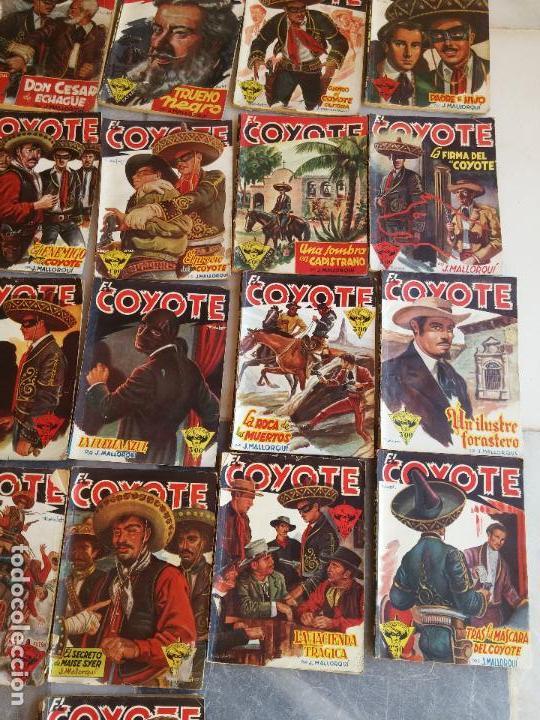 Tebeos: Lote de 22 Comics El Coyote primeras ediciones año 1947-46, por ediciones Cliper J. Mallorquí - Foto 5 - 106770763