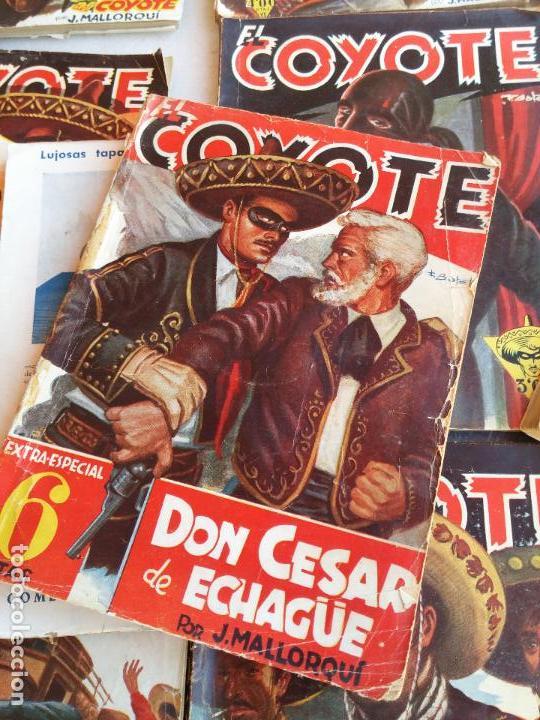 Tebeos: Lote de 22 Comics El Coyote primeras ediciones año 1947-46, por ediciones Cliper J. Mallorquí - Foto 6 - 106770763