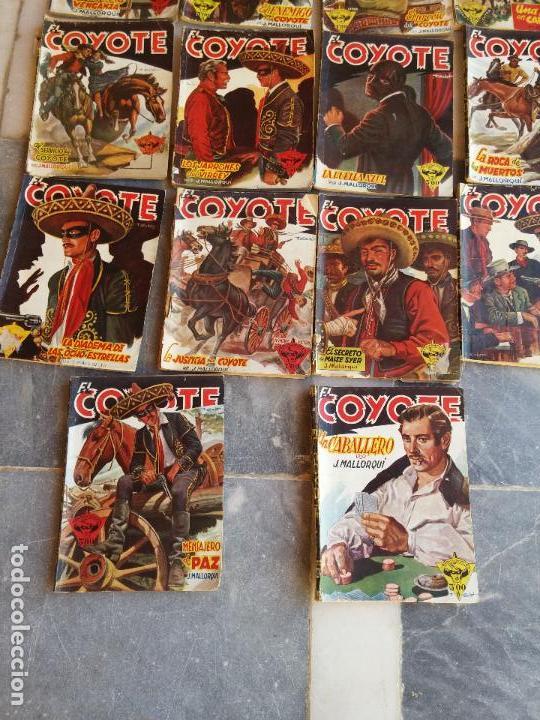 Tebeos: Lote de 22 Comics El Coyote primeras ediciones año 1947-46, por ediciones Cliper J. Mallorquí - Foto 7 - 106770763