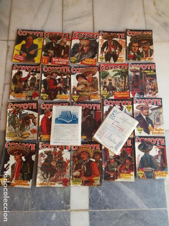 Tebeos: Lote de 22 Comics El Coyote primeras ediciones año 1947-46, por ediciones Cliper J. Mallorquí - Foto 8 - 106770763