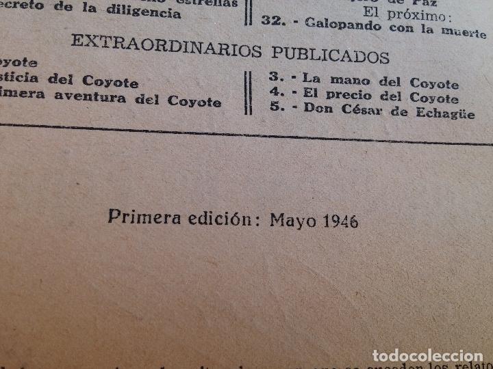 Tebeos: Lote de 22 Comics El Coyote primeras ediciones año 1947-46, por ediciones Cliper J. Mallorquí - Foto 9 - 106770763