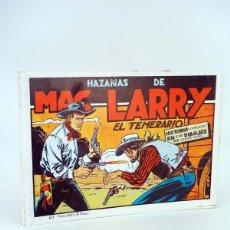 Tebeos: LAS HAZAÑAS DE MAC LARRY EL TEMERARIO HISTORIA COMPLETA. FACSIMIL (VICENTE ROSO) 1988. OFRT. Lote 107984455