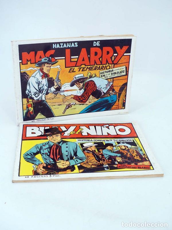 BILLY EL NIÑO / MAC LARRY EL TEMERARIO REEDICIÓN FACSIMIL (BLASCO / ROSO) COMIC MAM, 1988. OFRT (Tebeos y Comics - Cliper - Otros)