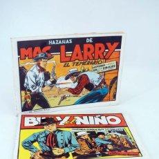 Tebeos: BILLY EL NIÑO / MAC LARRY EL TEMERARIO REEDICIÓN FACSIMIL (BLASCO / ROSO) COMIC MAM, 1988. OFRT. Lote 137870136
