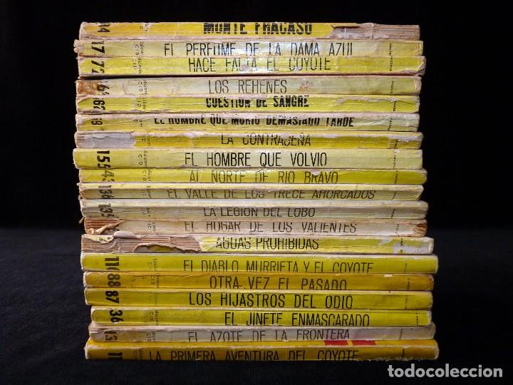 Tebeos: LOTE DE 19 NOVELAS DEL COYOTE. J. MALLORQUI. EDICIONES CID, AÑOS 60 - Foto 2 - 108689639