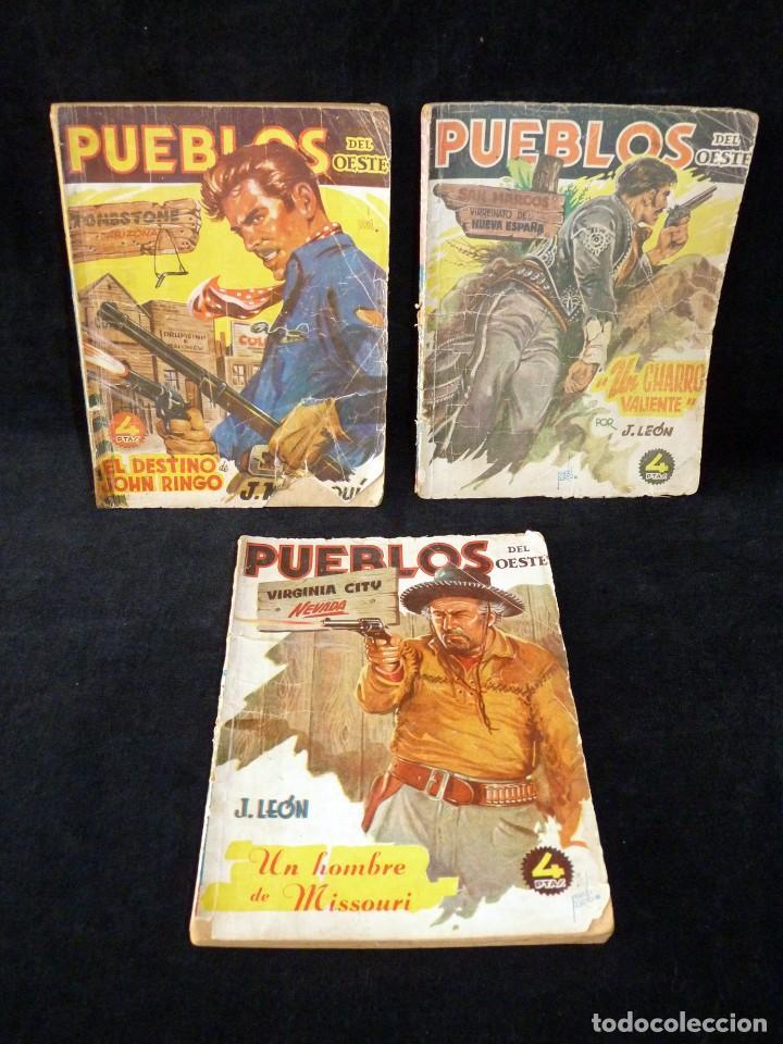 LOTE DE 3 NOVELAS DE PUEBLOS DEL OESTE. EDICIONES CLIPER, AÑOS 1949-50. MALLORQUÍ, LEÓN (Tebeos y Comics - Cliper - Otros)