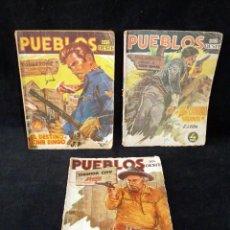 Tebeos: LOTE DE 3 NOVELAS DE PUEBLOS DEL OESTE. EDICIONES CLIPER, AÑOS 1949-50. MALLORQUÍ, LEÓN. Lote 108689711