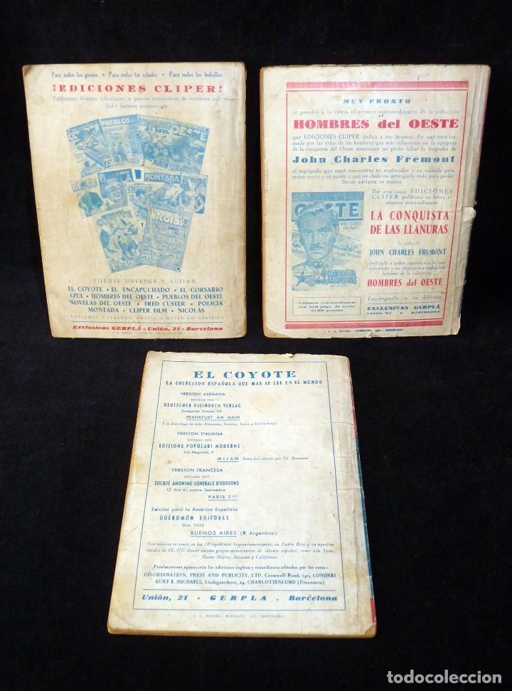 Tebeos: LOTE DE 3 NOVELAS DE PUEBLOS DEL OESTE. EDICIONES CLIPER, AÑOS 1949-50. MALLORQUÍ, LEÓN - Foto 2 - 108689711