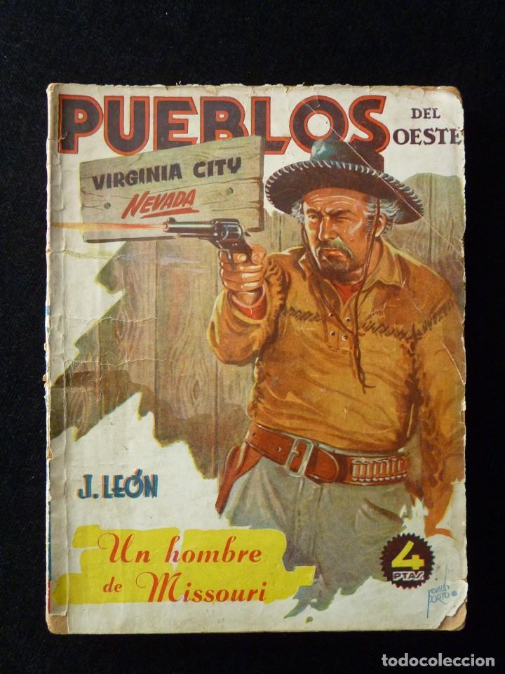 Tebeos: LOTE DE 3 NOVELAS DE PUEBLOS DEL OESTE. EDICIONES CLIPER, AÑOS 1949-50. MALLORQUÍ, LEÓN - Foto 5 - 108689711