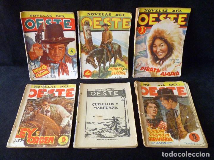 LOTE DE 6 NOVELAS COLECCIÓN NOVELAS DEL OESTE. EDICIONES CLIPER, AÑOS 50 (Tebeos y Comics - Cliper - Otros)