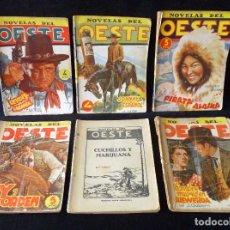 Tebeos: LOTE DE 6 NOVELAS COLECCIÓN NOVELAS DEL OESTE. EDICIONES CLIPER, AÑOS 50 . Lote 108689935