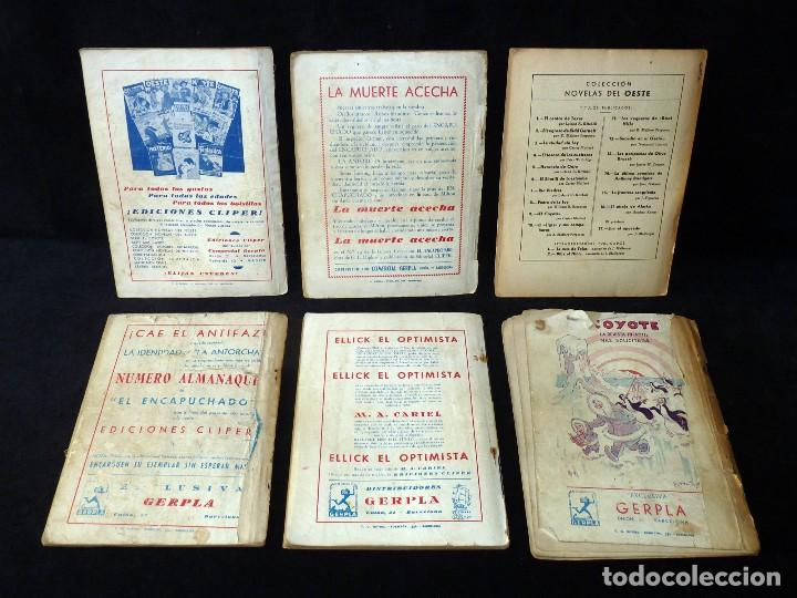 Tebeos: LOTE DE 6 NOVELAS COLECCIÓN NOVELAS DEL OESTE. EDICIONES CLIPER, AÑOS 50 - Foto 2 - 108689935