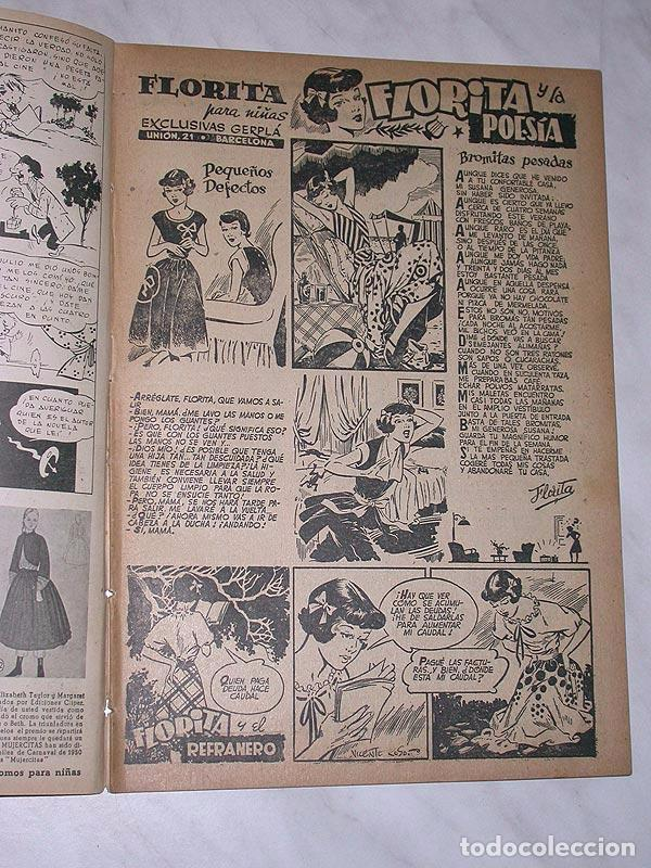 Tebeos: FLORITA Nº 86. VICENTE ROSO, MACIÁN, JESÚS Y PILI BLASCO, JULIO RIBERA, GLADYS PARKER. CLIPER 1951 - Foto 2 - 111645615