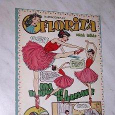 Livros de Banda Desenhada: FLORITA Nº 95. VICENTE ROSO, MACIÁN, JESÚS Y PILI BLASCO, JULIO RIBERA, GLADYS PARKER. CLIPER, 1951.. Lote 113390075