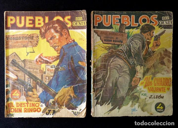 LOTE DE 2 NOVELAS DE PUEBLOS DEL OESTE. EDICIONES CLIPER, AÑOS 1949. MALLORQUÍ, LEÓN (Tebeos y Comics - Cliper - Otros)