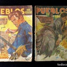 Tebeos: LOTE DE 2 NOVELAS DE PUEBLOS DEL OESTE. EDICIONES CLIPER, AÑOS 1949. MALLORQUÍ, LEÓN. Lote 117849979