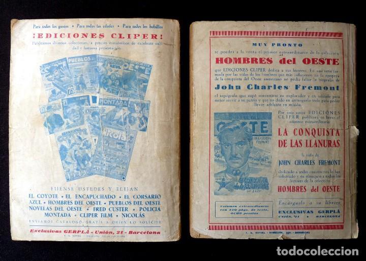 Tebeos: LOTE DE 2 NOVELAS DE PUEBLOS DEL OESTE. EDICIONES CLIPER, AÑOS 1949. MALLORQUÍ, LEÓN - Foto 2 - 117849979