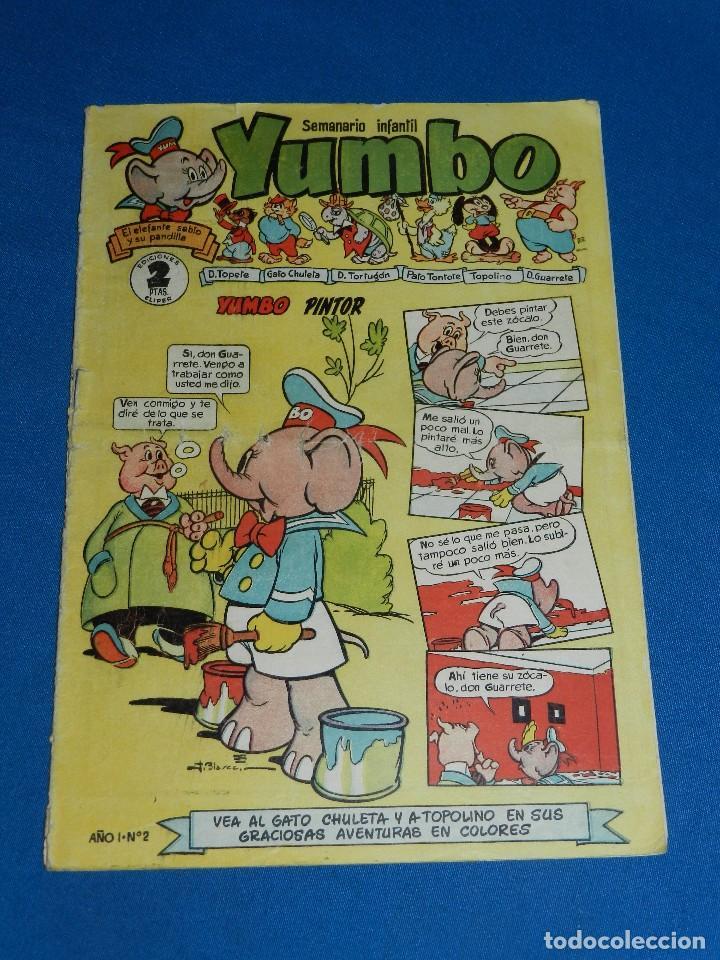 (M9) YUMBO AÑO I NUM 2 , EDT CLIPER , SEÑALES DE USO , ROTURITAS EN EL LOMO (Tebeos y Comics - Cliper - Yumbo)