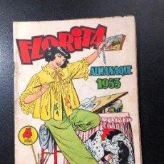 Tebeos: FLORITA . ALMANAQUE 1953. Lote 121469079