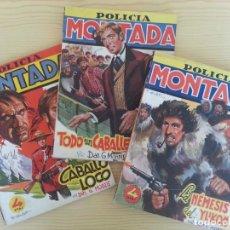 Tebeos: LOTE POLICÍA MONTADA CLIPER (Nº 4-5-10): CABALLO LOCO, TODO UN CABALLERO, NÉMESIS DEL YUKÓN (MORRIS). Lote 124460999
