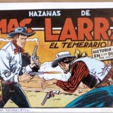 Tebeos: TEBEO HAZAÑAS DE MAC LARRY FACSÍMIL 1949. Lote 126324971