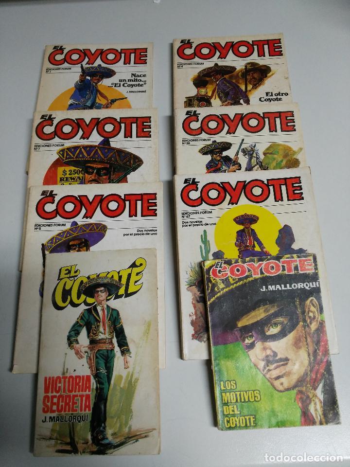 LOTE DE 8 NOVELAS DE EL COYOTE, N°1,4,7,8,8,38,67,75. (Tebeos y Comics - Cliper - El Coyote)