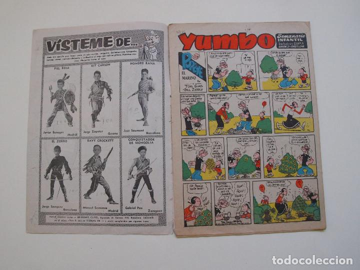 Tebeos: YUMBO Nº 277 - AÑO VI - SEMANARIO INFANTIL - EDITORIAL CLIPER 1953 - Foto 2 - 130802960