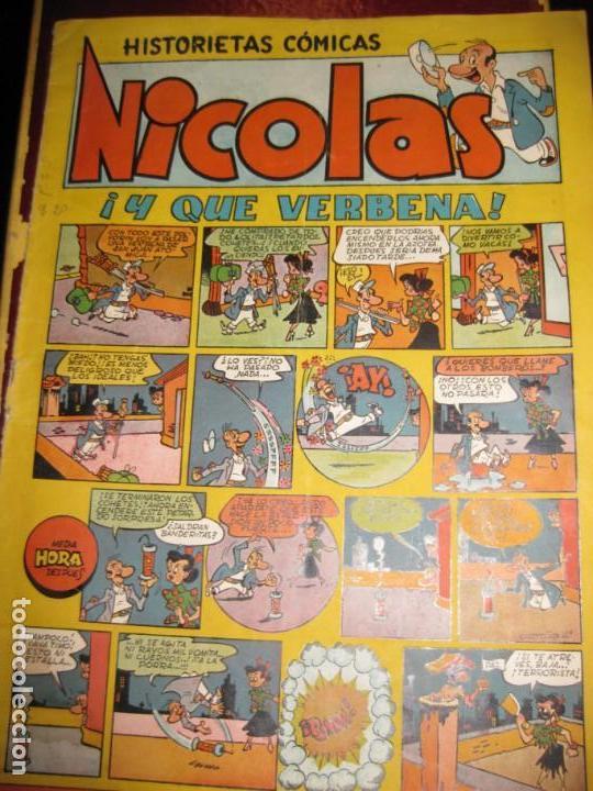 NICOLAS , HISTORIETAS COMICAS EDICIONES CLIPER . ! Y QUE VERBENA . TIPO TBO AÑOS 40 (Tebeos y Comics - Cliper - Nicolas)