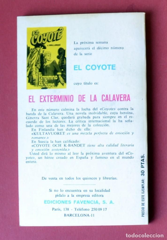 Tebeos: EL COYOTE Nº 9. SIERRA DE ORO - JOSE MALLORQUI. AÑO 1973. EDICIONES FAVENCIA - Foto 2 - 133706462