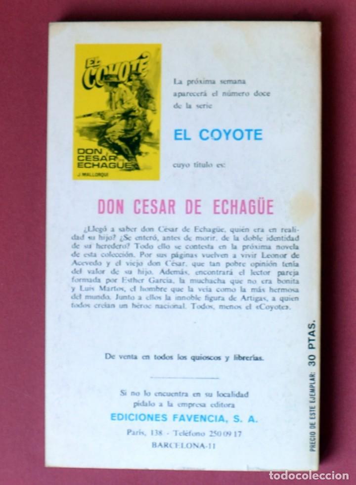 Tebeos: EL COYOTE Nº 11.LA PRIMERA AVENTURA DEL COYOTE - JOSE MALLORQUI. AÑO 1973. EDICIONES FAVENCIA - Foto 2 - 133709114