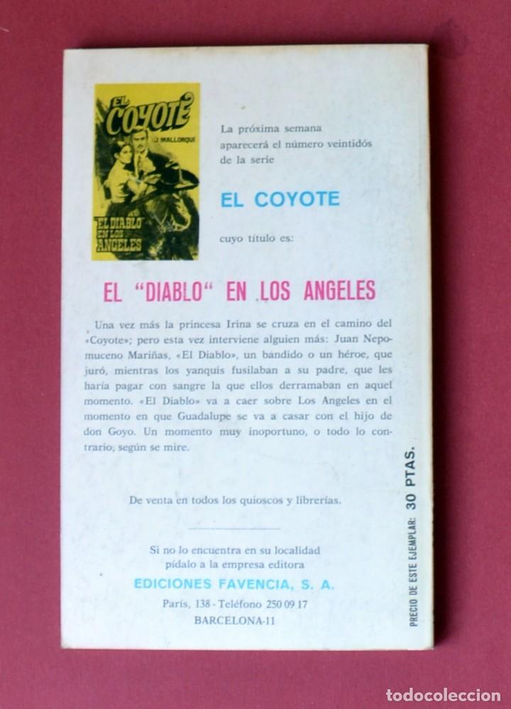 Tebeos: EL COYOTE Nº 21. TRAS LA MASCARA DEL COYOTE - JOSE MALLORQUI. AÑO 1973. EDICIONES FAVENCIA - Foto 2 - 133711994