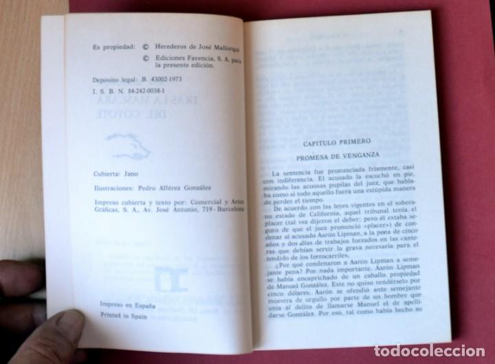 Tebeos: EL COYOTE Nº 21. TRAS LA MASCARA DEL COYOTE - JOSE MALLORQUI. AÑO 1973. EDICIONES FAVENCIA - Foto 3 - 133711994