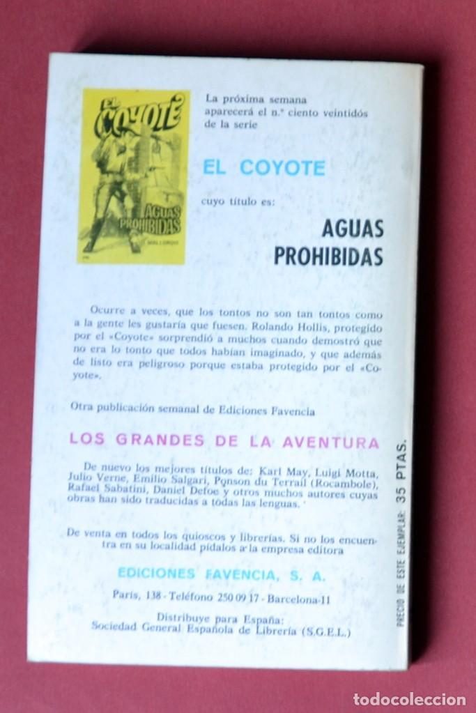 Tebeos: EL COYOTE Nº 121. PROTEGIDO DEL COYOTE - JOSE MALLORQUI. AÑO 1975. EDICIONES FAVENCIA - Foto 2 - 133858754