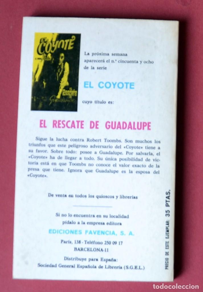 Tebeos: EL COYOTE Nº 57. GUADALUPE - JOSE MALLORQUI. AÑO 1974. EDICIONES FAVENCIA - Foto 2 - 133860634