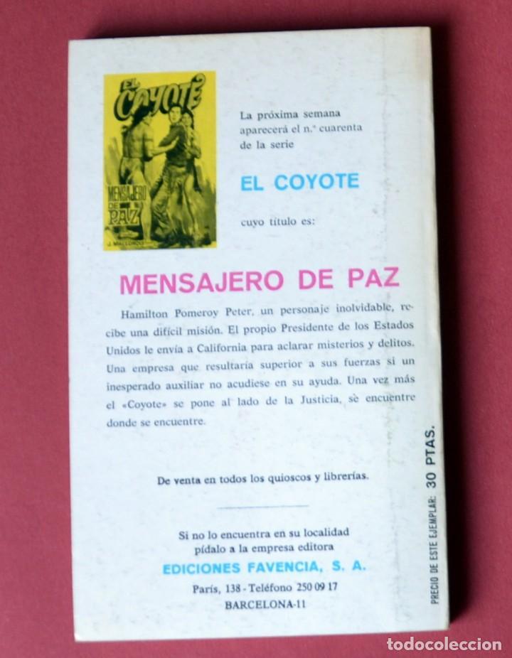 Tebeos: EL COYOTE Nº 39.LA HUELLA AZUL - JOSE MALLORQUI. AÑO 1974. EDICIONES FAVENCIA - Foto 2 - 133863014