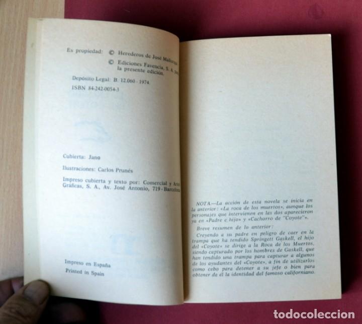 Tebeos: EL COYOTE Nº 46.EL ENEMIGO DEL COYOTE - JOSE MALLORQUI. AÑO 1974. EDICIONES FAVENCIA - Foto 3 - 133863582