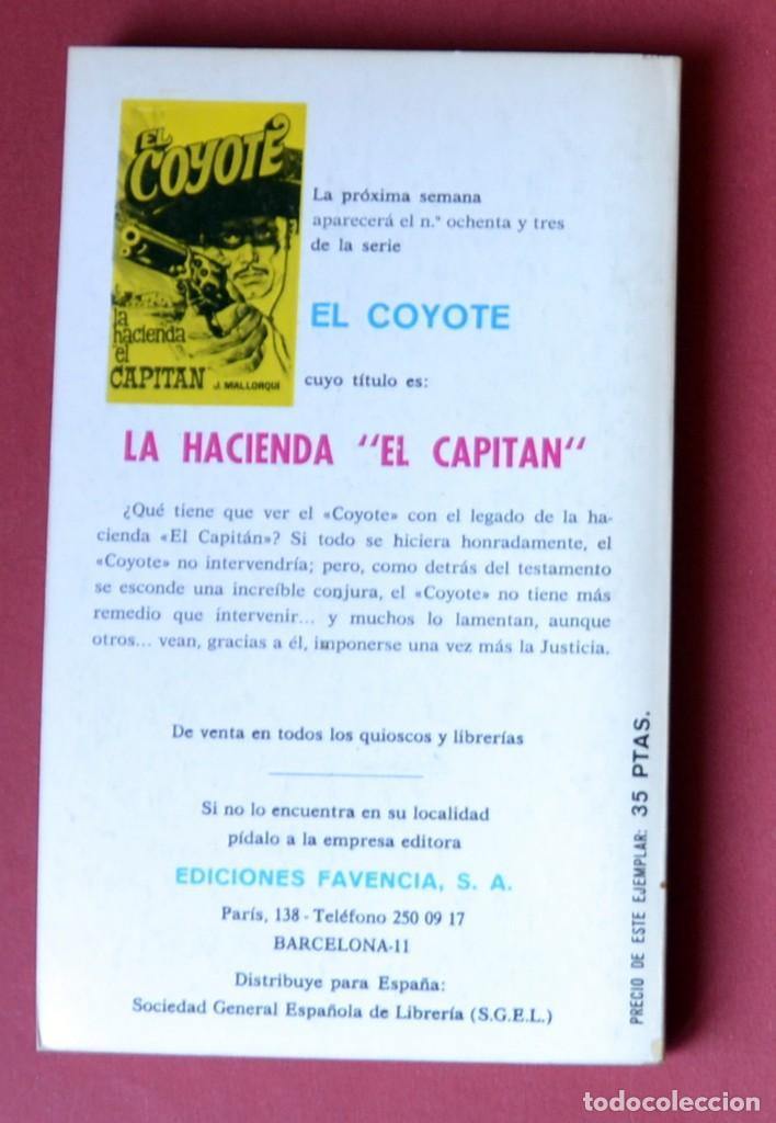 Tebeos: EL COYOTE Nº 82.SANGRE EN LA CUENCA DEL AMARILLO - JOSE MALLORQUI. AÑO 1974. EDICIONES FAVENCIA - Foto 2 - 133970886