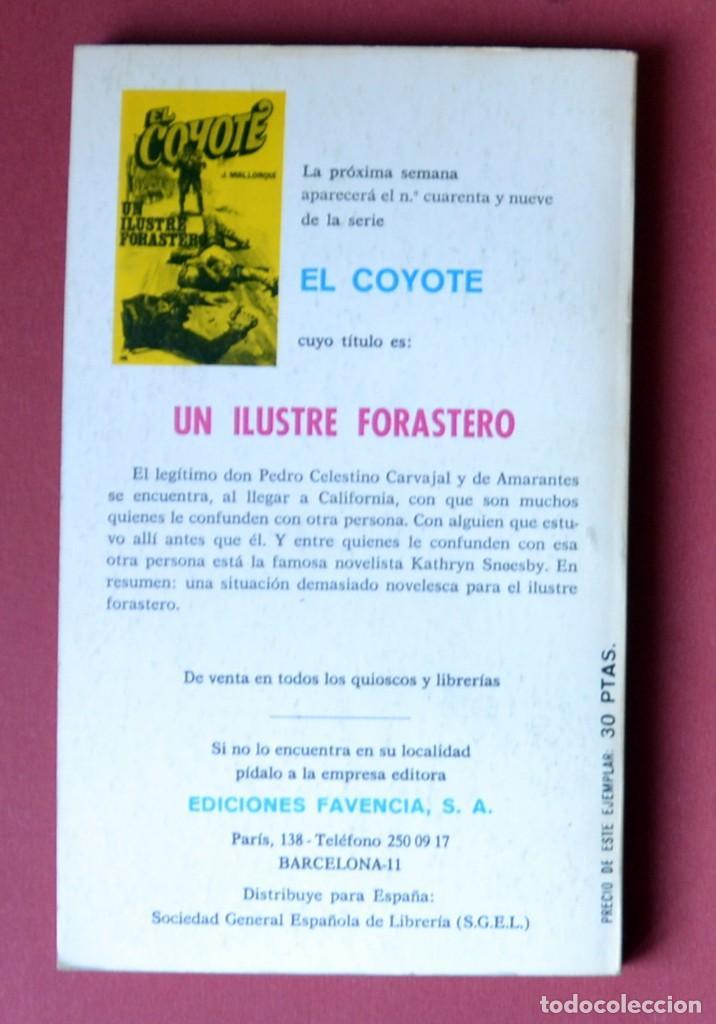 Tebeos: EL COYOTE Nº 48.7 HOMBRES MALOS - JOSE MALLORQUI. AÑO 1974. EDICIONES FAVENCIA - Foto 2 - 133971846