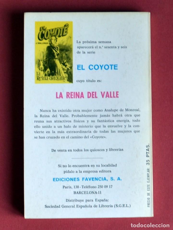 Tebeos: EL COYOTE Nº 65.TRES PLUMAS NEGRAS - JOSE MALLORQUI. AÑO 1974. EDICIONES FAVENCIA - Foto 2 - 134224418
