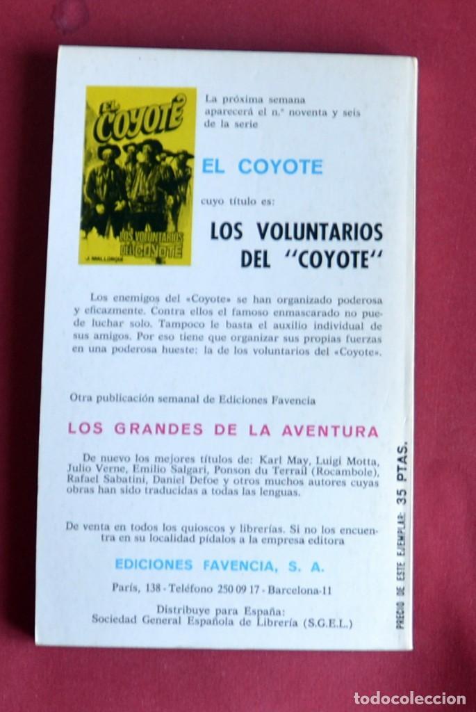 Tebeos: EL COYOTE Nº 95.A LA CAZA DEL COYOTE - JOSE MALLORQUI. AÑO 1975. EDICIONES FAVENCIA - Foto 2 - 134399702