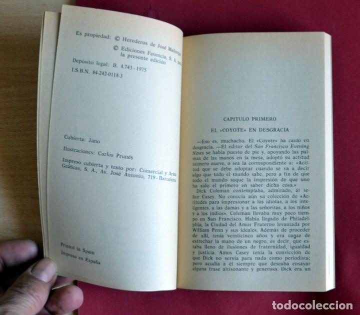 Tebeos: EL COYOTE Nº 95.A LA CAZA DEL COYOTE - JOSE MALLORQUI. AÑO 1975. EDICIONES FAVENCIA - Foto 3 - 134399702