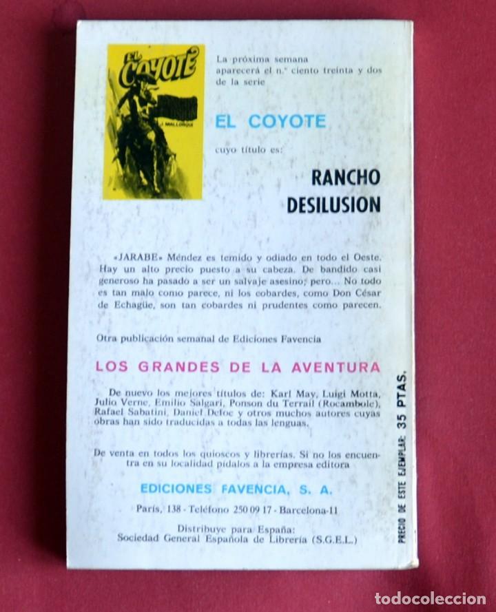 Tebeos: EL COYOTE Nº131.VUELVE EL COYOTE - JOSE MALLORQUI. AÑO 1975. EDICIONES FAVENCIA - Foto 2 - 134400346