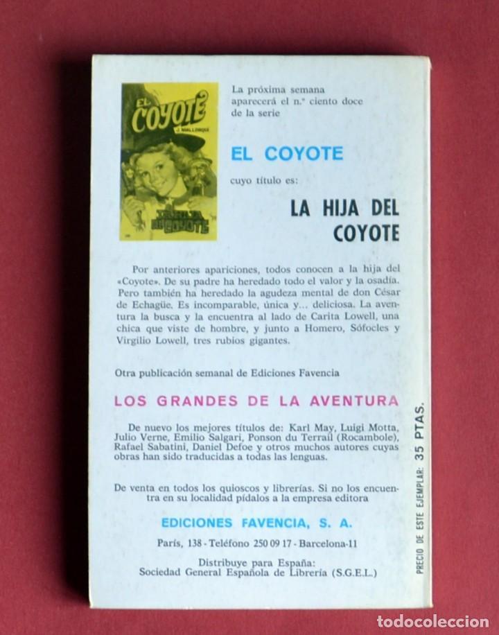 Tebeos: EL COYOTE Nº 111.EL PROSCRITO DE LAS LOMAS - JOSE MALLORQUI. AÑO 1975. EDICIONES FAVENCIA - Foto 2 - 134402230