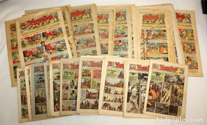 YUMBO-72 EJEMPLARES-(HISPANO AMERICANA)-INCLUYE ALMANAQUE DE 1939-MUY DIFICIL. (Tebeos y Comics - Cliper - Yumbo)
