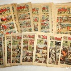 Tebeos: YUMBO-72 EJEMPLARES-(HISPANO AMERICANA)-INCLUYE ALMANAQUE DE 1939-MUY DIFICIL.. Lote 137764098