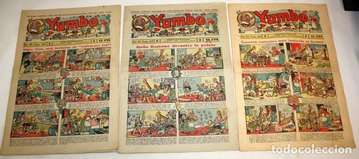 Tebeos: YUMBO-72 EJEMPLARES-(HISPANO AMERICANA)-INCLUYE ALMANAQUE DE 1939-MUY DIFICIL. - Foto 3 - 137764098