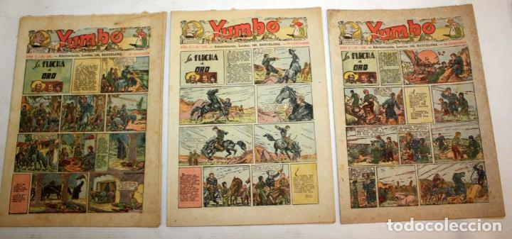 Tebeos: YUMBO-72 EJEMPLARES-(HISPANO AMERICANA)-INCLUYE ALMANAQUE DE 1939-MUY DIFICIL. - Foto 7 - 137764098