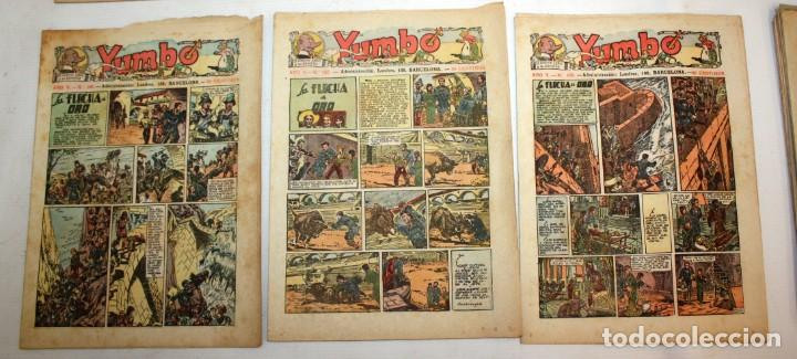 Tebeos: YUMBO-72 EJEMPLARES-(HISPANO AMERICANA)-INCLUYE ALMANAQUE DE 1939-MUY DIFICIL. - Foto 9 - 137764098