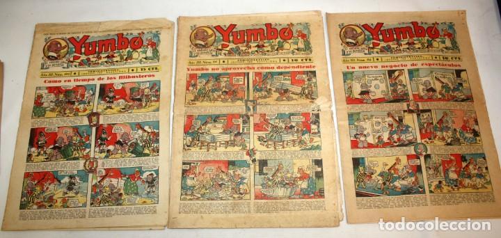 Tebeos: YUMBO-72 EJEMPLARES-(HISPANO AMERICANA)-INCLUYE ALMANAQUE DE 1939-MUY DIFICIL. - Foto 12 - 137764098