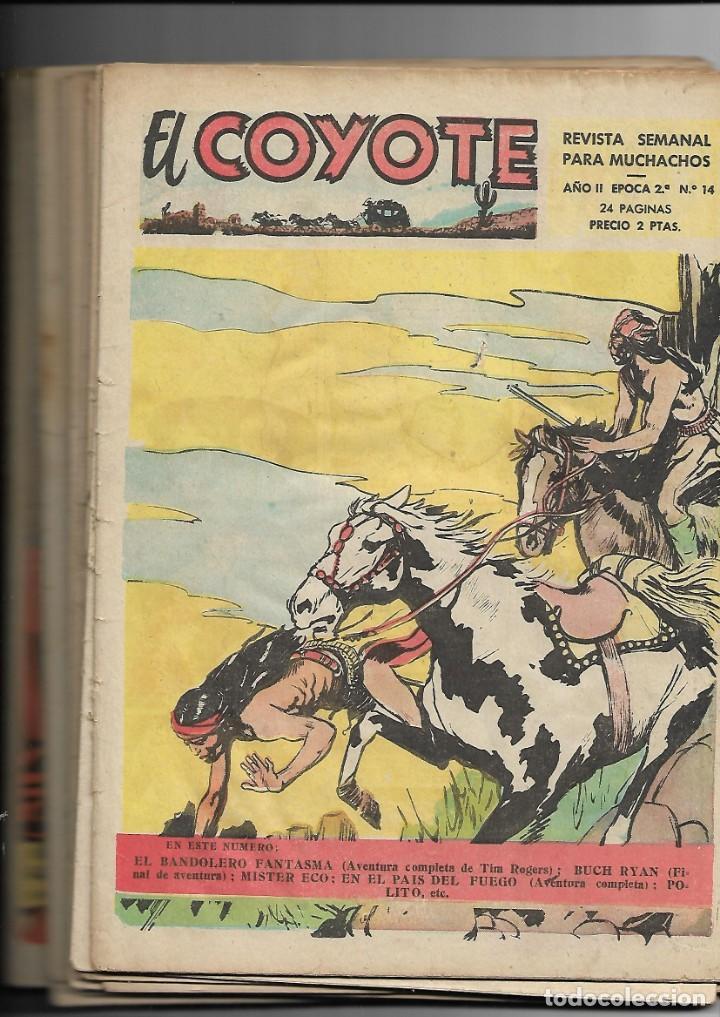 EL COYOTE 2ª EPOCA AÑO 1954 COLECCIÓN COMPLETA SON 14 TEBEOS ORIGINALES J. BLASCO GRÁFICAS GUADA S (Tebeos y Comics - Cliper - El Coyote)